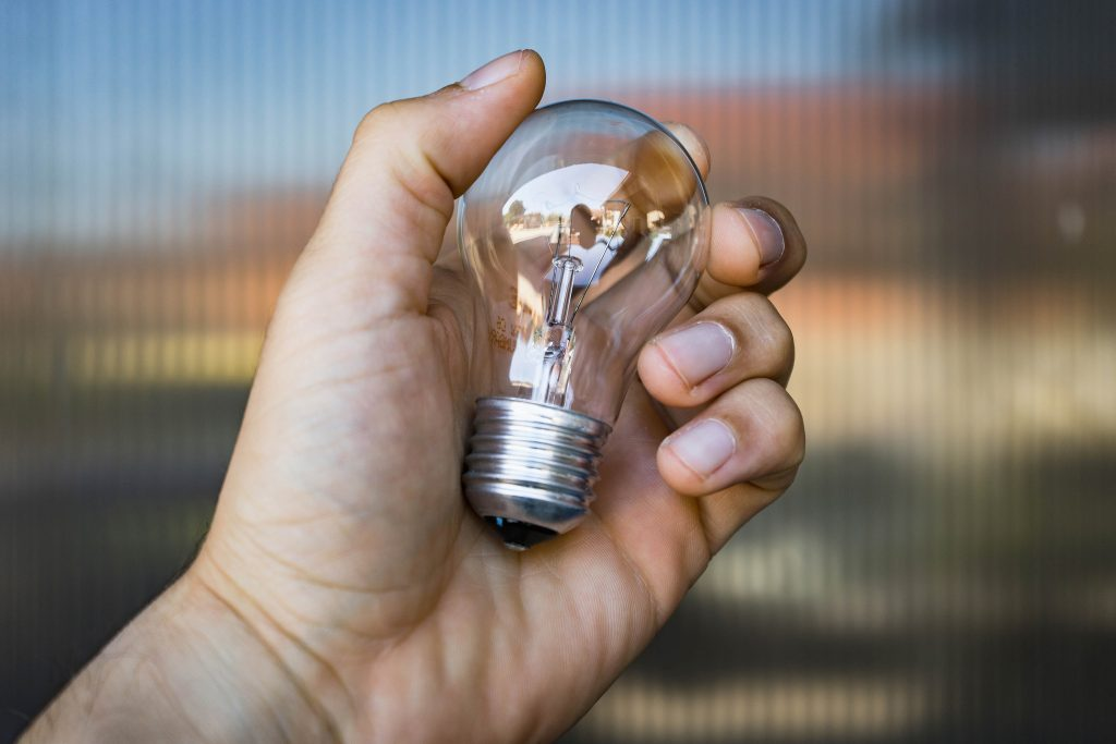 Close-Up Of the Hand Holding the Light Bulb